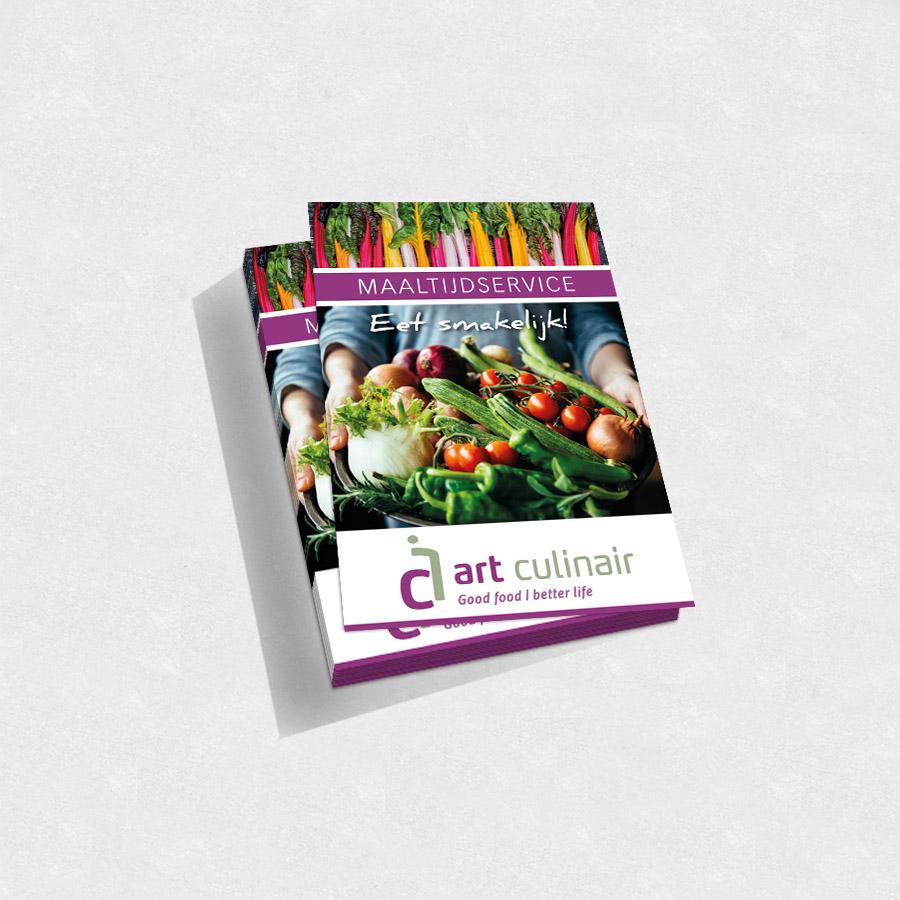 Flyer art culinair maaltijdservice